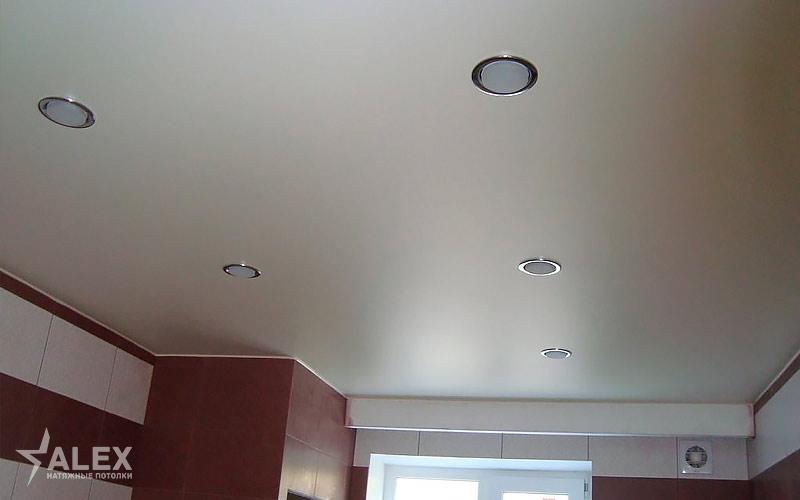 Матовый натяжной потолок для лоджии и балкона