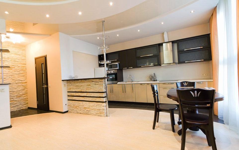 Купить натяжные потолки в Туле: цены установки в квартиру-студию